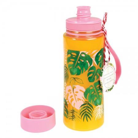 Butelka - bidon na wodę 600 ml BPA Free Tropical Palm | Rex London - butelka wypełniona sokiem