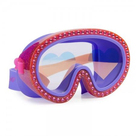 Maska do pływania Malinowe Serca Bling2O