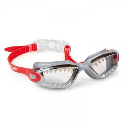Okulary do pływania Szczęki Rekina czerwone Bling2O