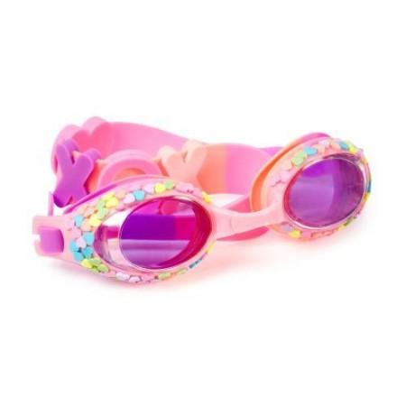 Okulary do pływania Pastelowe serduszka Hugs & Kissed Bling2O
