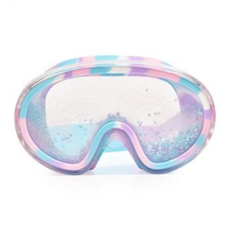 Maska do pływania od 6 lat z błękitnym brokatem i gwiazdkami Bling2O
