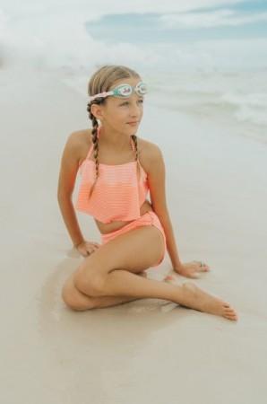 Okulary do pływania od 3 lat Syrenka Turkus Bling2O