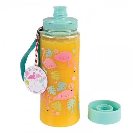 Butelka - bidon na wodę 600 ml BPA Free Flamingo Bay | Rex London - butelka wypełniona sokiem