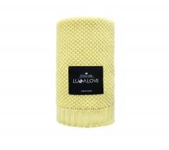 Bambusowy kocyk tkany | cytrynowy | Lullalove
