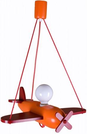Lampa wisząca Samolot Clipper pomarańczowo-czerwony Hellux