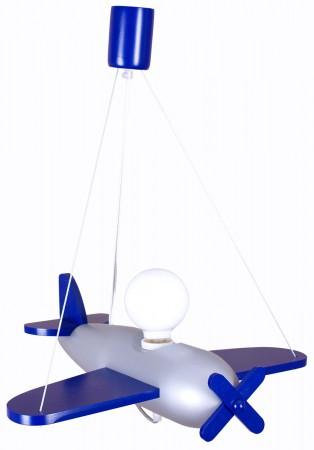 Lampa wisząca Samolot Clipper granatowy Hellux