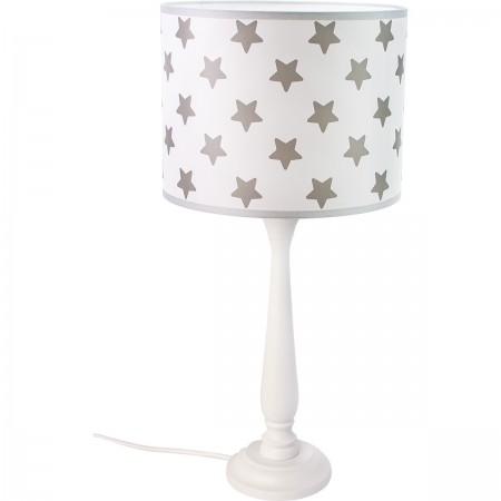 Lampa stojąca Berta biała w gwiazdki Hellux