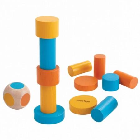Mini gra zręcznościowa balansująca wieża Plan Toys