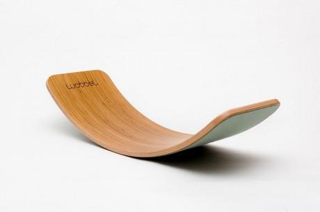Deska do balansowania Original Bamboo z filcem Wobbel