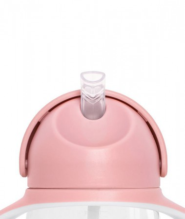 Bidon z obciążoną słomką 260 ml kolor różowy KIDodo