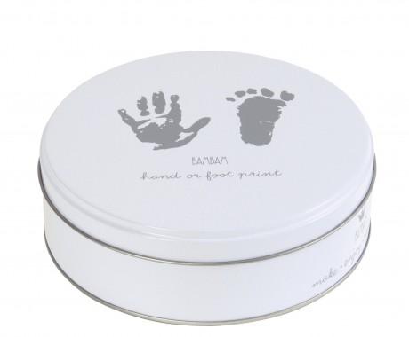 Pudełko na odcisk rączki lub stopy Kolor biały BamBam