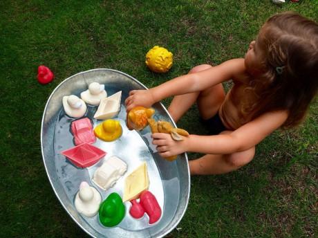 Zabawka do kąpieli Oli and Carol Łódka Origami Mint