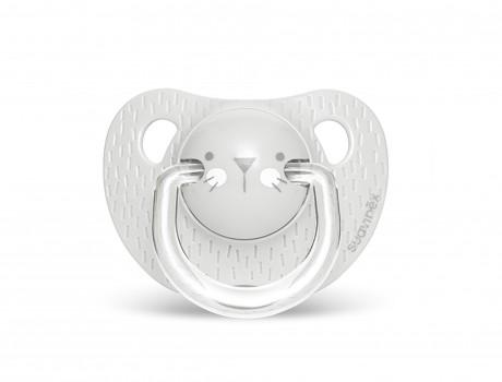 Smoczek anatomiczny silikon 18m+ Kotek Szary | Suavinex HYGGE BABY