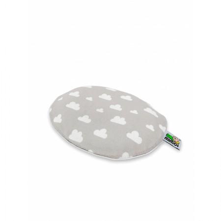 Poszewka na poduszkę szara w chmurki Mimos S | Mimos