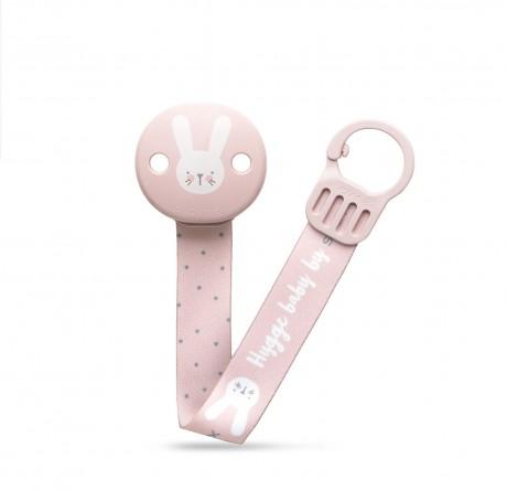 Różowy zestaw startowy dla noworodka Welcome Baby Set Suavinex HYGGE BABY - zawieszka do smoczka z tasiemką