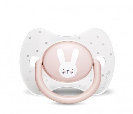 Różowy zestaw startowy dla noworodka Welcome Baby Set Suavinex HYGGE BABY - smoczek