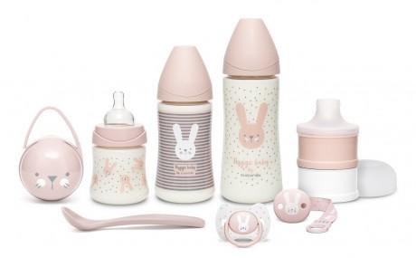 Różowy zestaw startowy dla noworodka Welcome Baby Set Suavinex HYGGE BABY