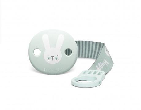 Miętowy zestaw startowy dla noworodka Welcome Baby Set Suavinex HYGGE BABY - zawieszka do smoczka z tasiemką
