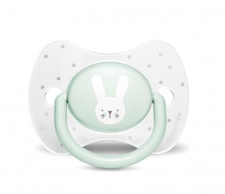 Miętowy zestaw startowy dla noworodka Welcome Baby Set Suavinex HYGGE BABY - smoczek