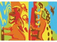 Magiczny piasek do kolorowania Mini Kit Dinozaury Sabbiarelli