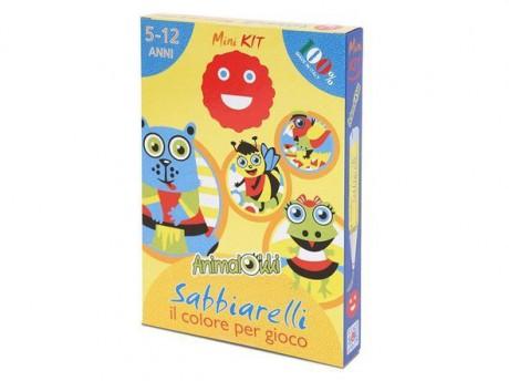 Magiczny piasek do kolorowania Mini Kit Zwierzęta Sabbiarelli