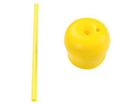 Zestaw silikonowych nakładek na kubki - czerwona + żółta KIDodo