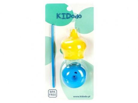 Zestaw silikonowych nakładek na kubki - żółta + niebieska KIDodo