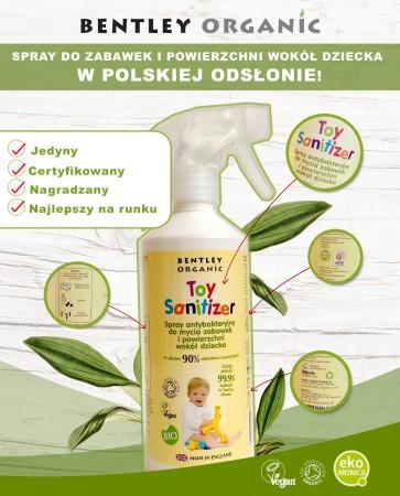 Mini spray dezynfekujący do mycia zabawek 50ml Bentley Organic