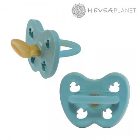 Anatomiczny smoczek kauczukowy 0-3 m kolor Twilight Blue HEVEA