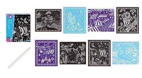 Zestaw zawiera 8 kart z obrazkami do zdrapania