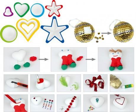 Styropianowe bombki do samodzielnego ozdobienia |  Mamambox Magiczne ozdoby świąteczne
