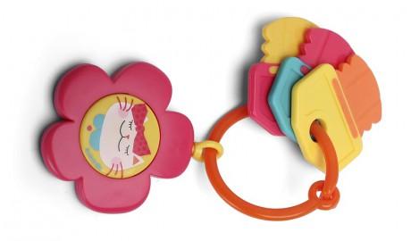 Gryzak z dźwiękiem dla niemowląt 0 m+ | kolor różowy | Suavinex