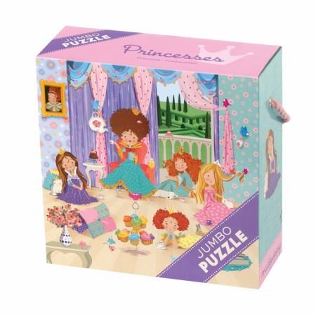 Puzzle jumbo | 25 elementów | Księżniczki | Mudpuppy