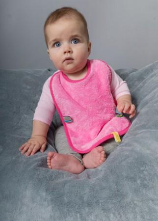 Śliniak z metkami dwustronny | Snoozebaby - idealny podczas zabkowania