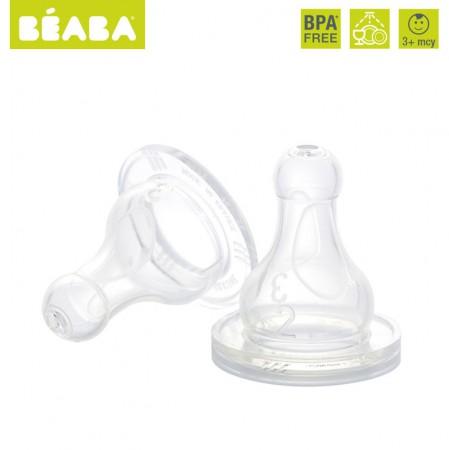 Smoczki okrągłe do butelek | 2 szt. | Beaba