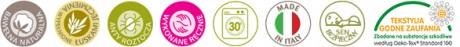 Bio materacyk do fotelika samochodowego | Nati Naturali | 40settimane - certyfikaty