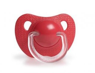 Smoczek anatomiczny silikon | 12m+ | czerwony | Suavinex Meaningful Life