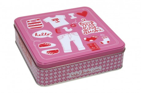 Puszka na drobiazgi dziecka lub prezent | różowa | Dushi