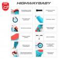 Rowerek biegowy i hulajnoga 2w1 | Highwaybaby | Scoot & Ride | krótki opis głównych funkcji