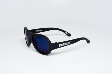Okulary przeciwsłoneczne z polaryzacją | 0-2 lat | Czarne do zadań specjalnych - niebieskie szkła | Babiators