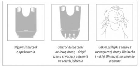 Jednorazowe śliniaczki dla dzieci Toly - instrukcja użycia