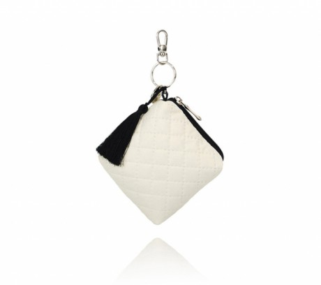 Mini torebka na drobiazgi - etui na smoczki | kolor ecru | Lullalove