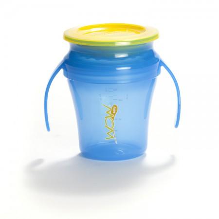 Kubek niekapek 360 stopni | WOW Cup Baby 207 ml | niebieski