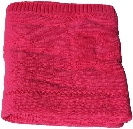 Kocyk bawełniany 85x90 cm | Kimono Pink | TucTuc