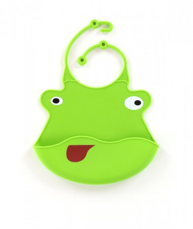 Śliniak silikonowy | zielona żabka | 40settimane