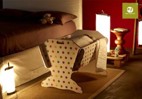 Eko łóżeczko dla dziecka wykonane z wytrzymałej tektury | 40settimane