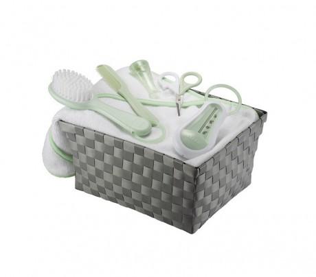 Zestaw kąpielowy dla noworodka Beaba -  pastelowy zielony