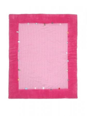 Mata do zabawy z metkami 105 x 85 cm | ciemny róż | Snoozebaby