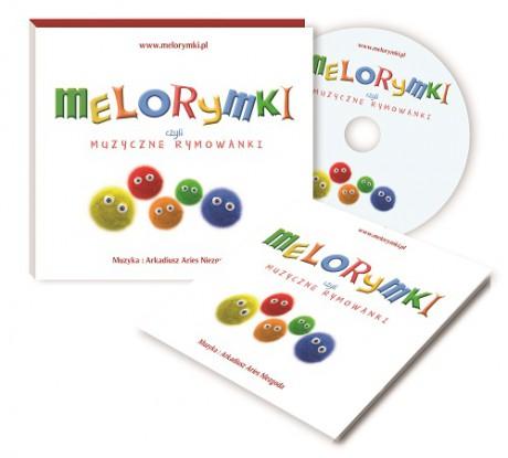 MELORYMKI, czyli muzyczne rymowanki – płytka CD + książeczka z tekstami.