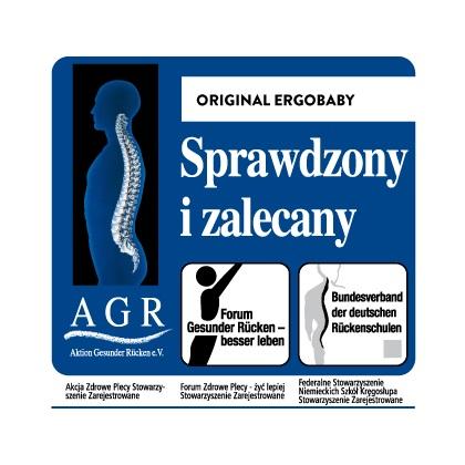 Nosidła Ergobaby Original uzyskały znak jakości AGR - oznacza to, że są one przyjazne dla kręgosłupa!